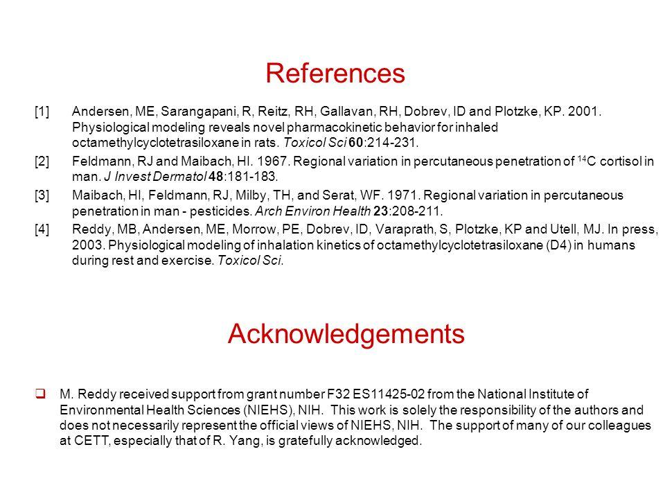 References [1]Andersen, ME, Sarangapani, R, Reitz, RH, Gallavan, RH, Dobrev, ID and Plotzke, KP.