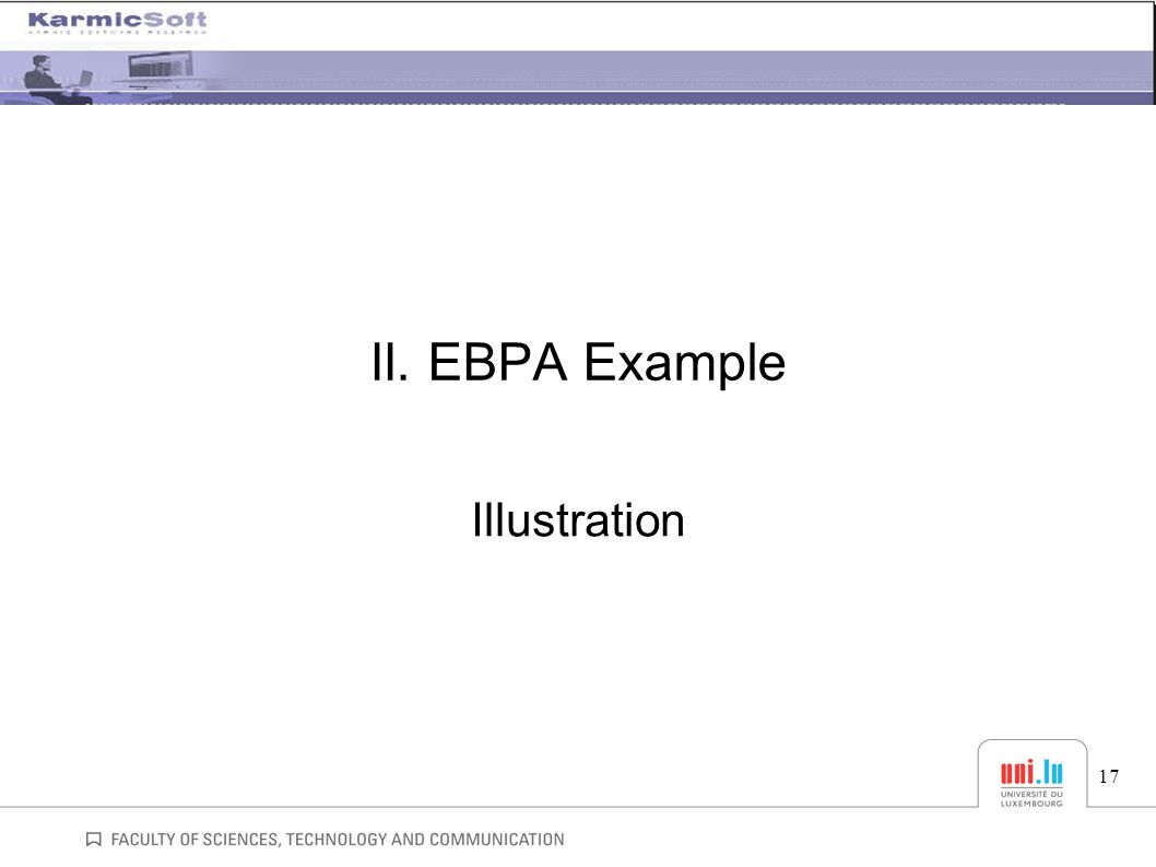 II. EBPA Example Illustration 17