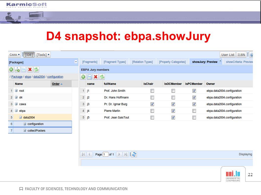 D4 snapshot: ebpa.showJury 22
