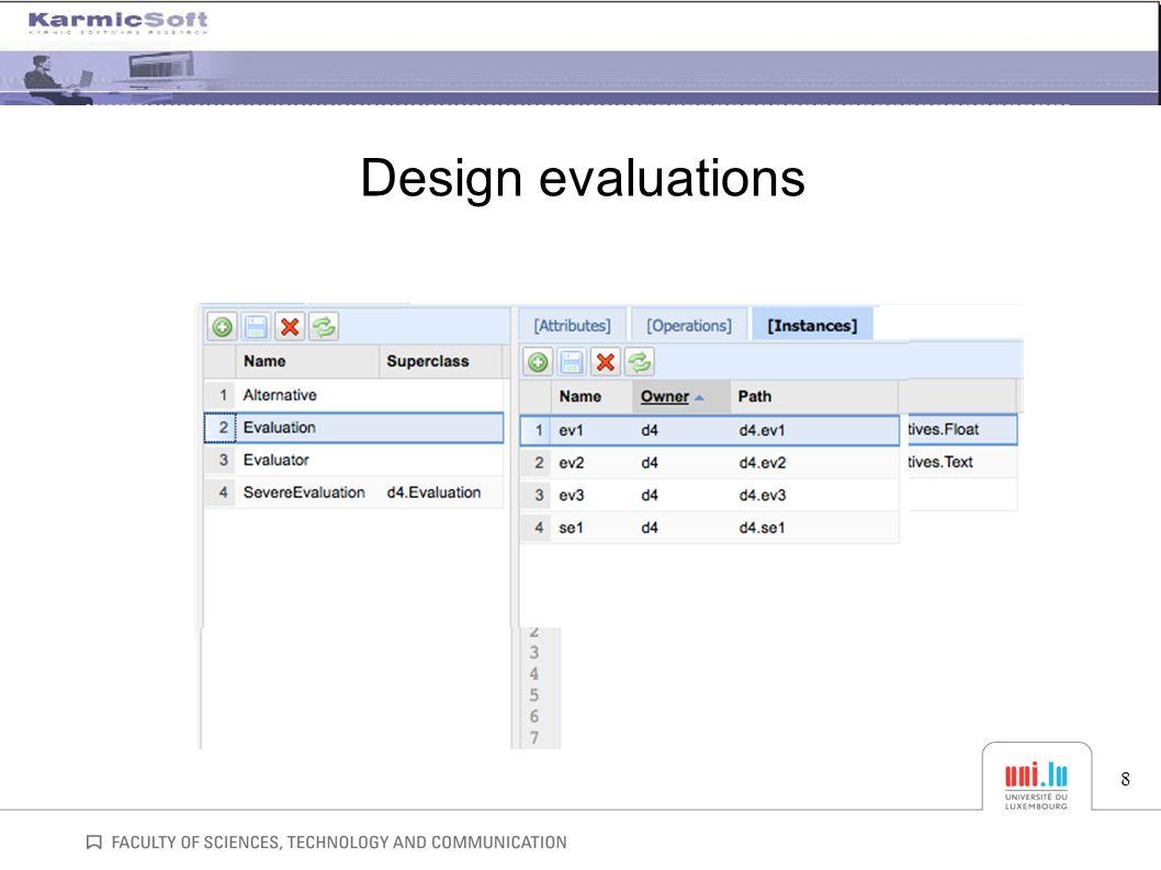 Design evaluations 8