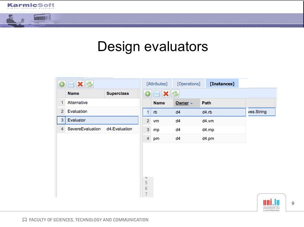 Design evaluators 9