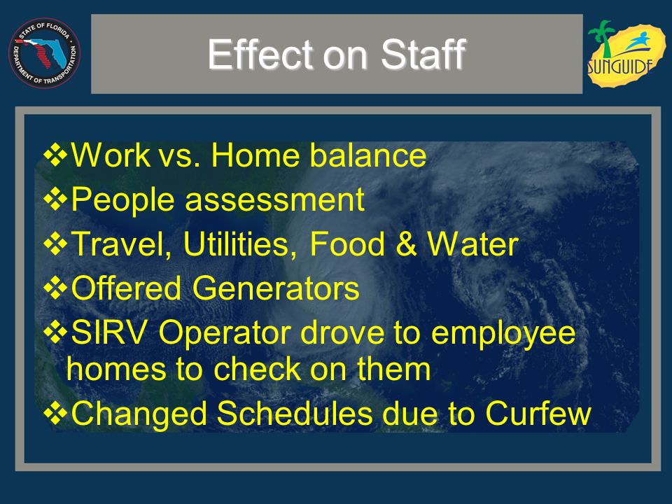 Effect on Staff  Work vs.