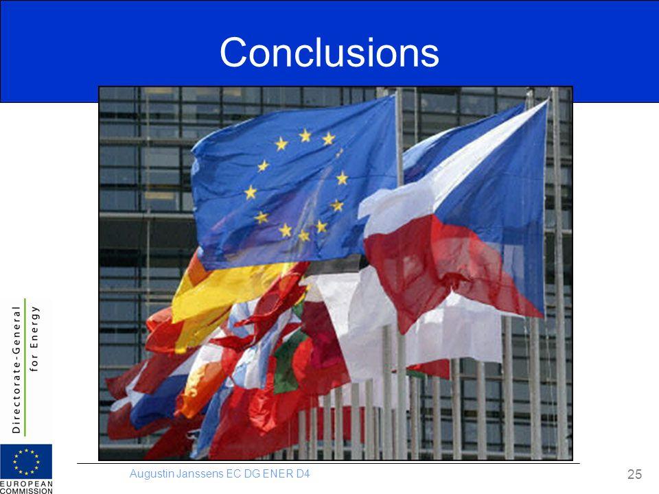 Augustin Janssens EC DG ENER D4 Conclusions 25