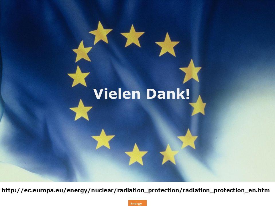 Energy Vielen Dank! http://ec.europa.eu/energy/nuclear/radiation_protection/radiation_protection_en.htm