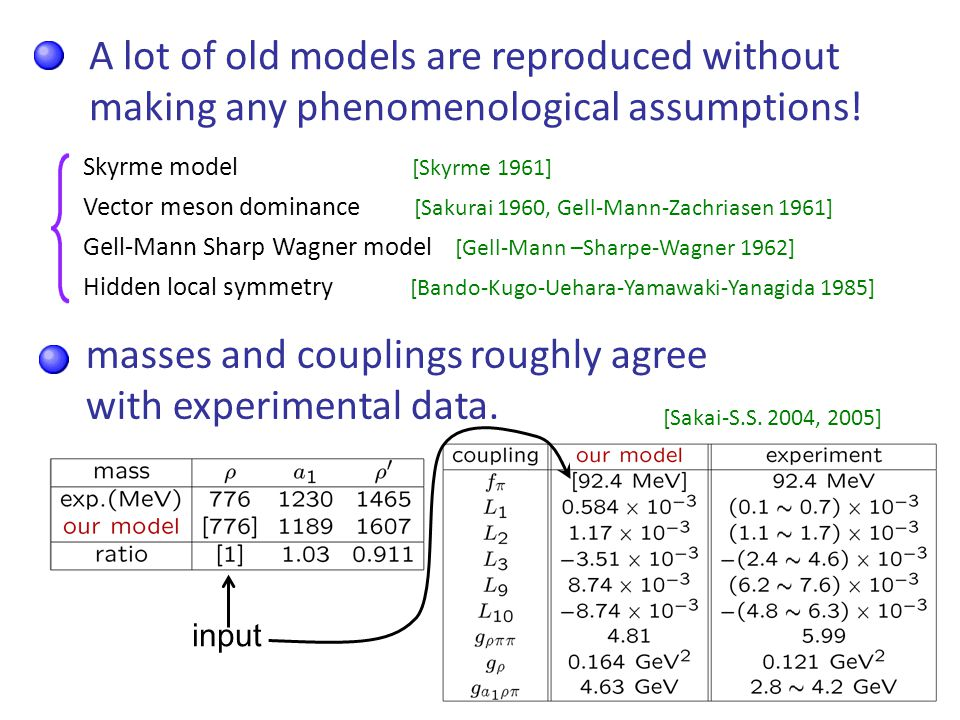 13 A lot of old models are reproduced without making any phenomenological assumptions.