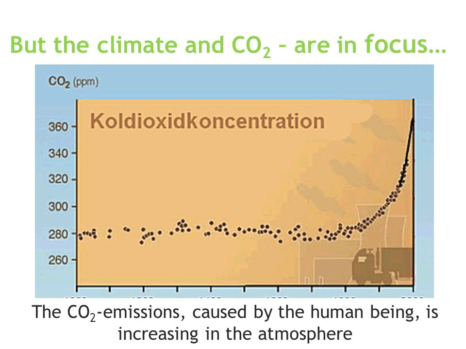 www.clean-drive.eu But the climate and CO 2 – are in focus… The CO 2 -emissions, caused by the human being, is increasing in the atmosphere