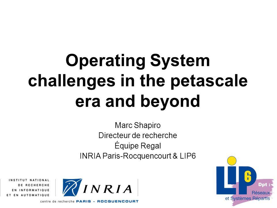 22 2008-09-18OS Challenges beyond petascale g4a Autonomic Management Volatile resources, VOs, users, etc.