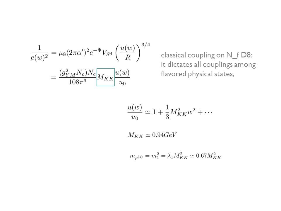 classical coupling on N_f D8: it dictates all couplings among flavored physical states,