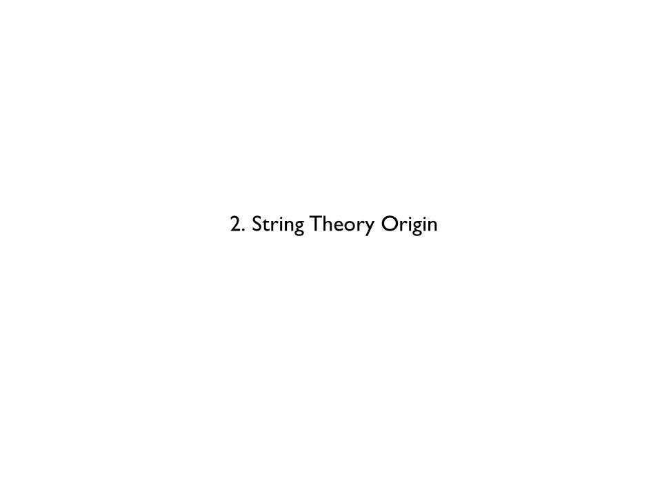 2. String Theory Origin