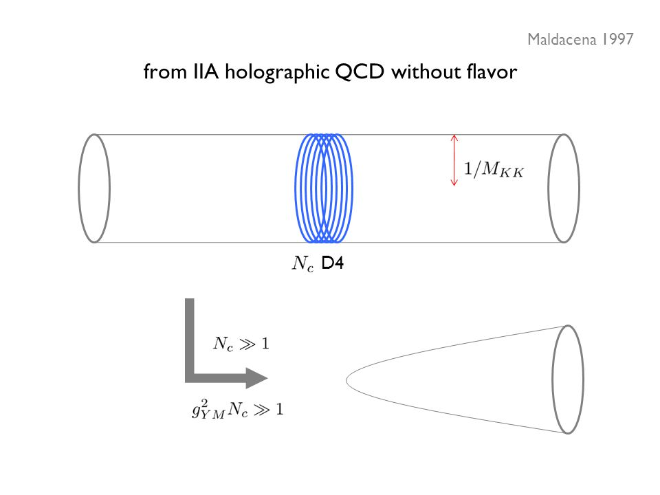 from IIA holographic QCD without flavor Maldacena 1997