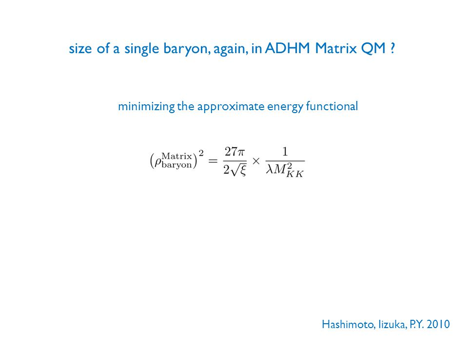 minimizing the approximate energy functional Hashimoto, Iizuka, P.Y. 2010
