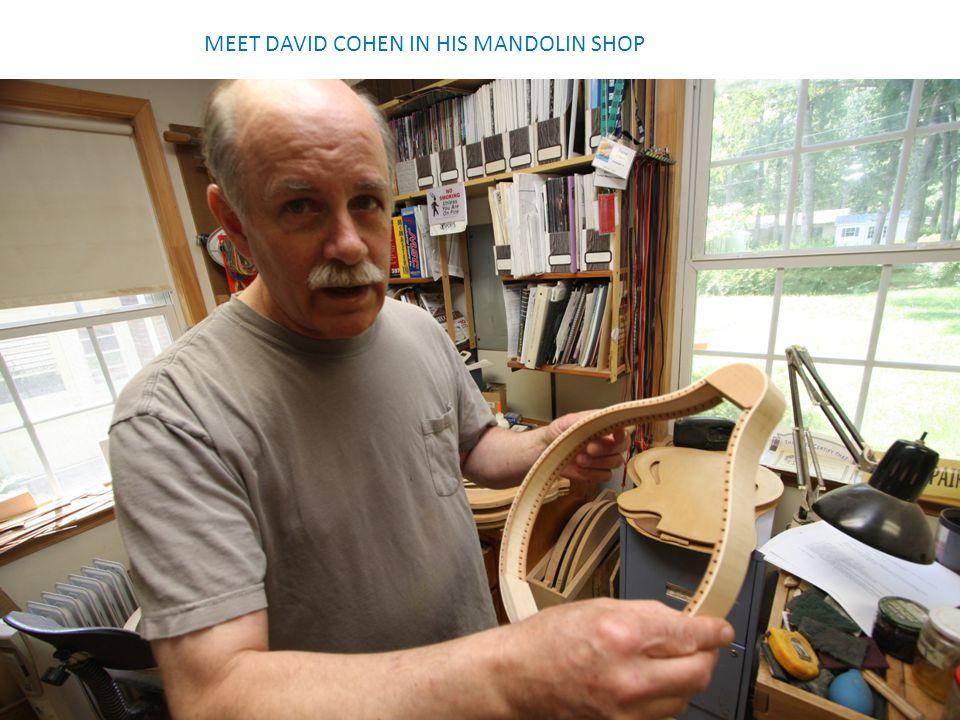 MEET DAVID COHEN IN HIS MANDOLIN SHOP