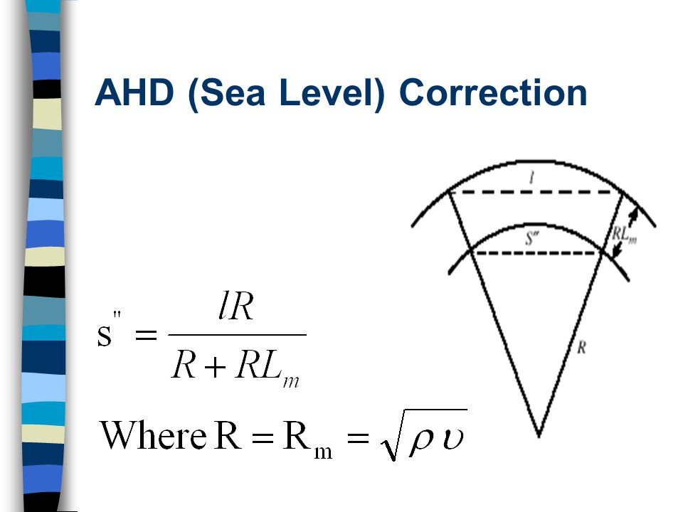 AHD (Sea Level) Correction