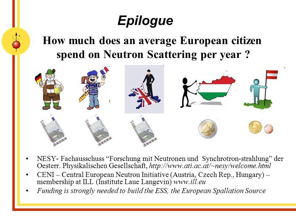 """How much does an average European citizen spend on Neutron Scattering per year ? NESY- Fachausschuss """"Forschung mit Neutronen und Synchrotron-strahlun"""