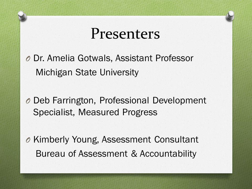 Presenters O Dr.