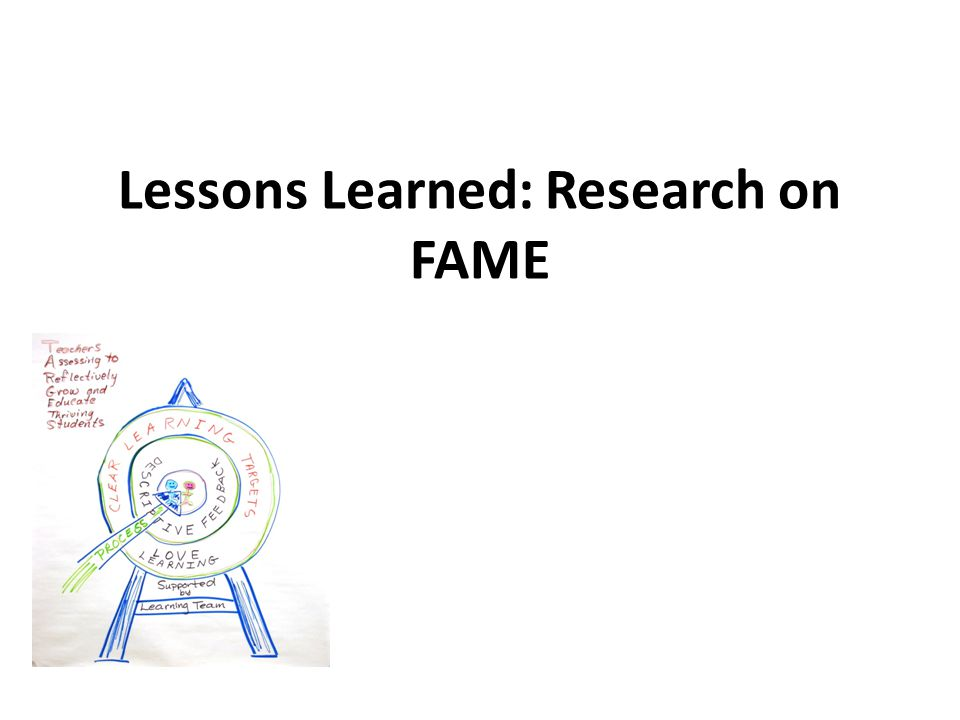 Lessons Learned: Research on FAME