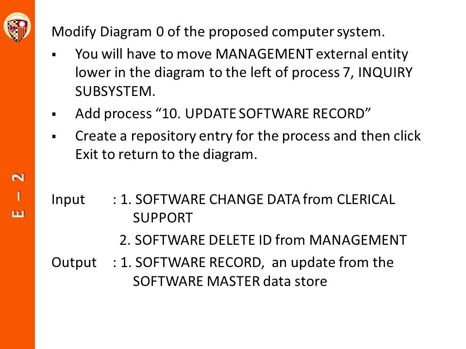 Modify Diagram 0 of the proposed computer system.