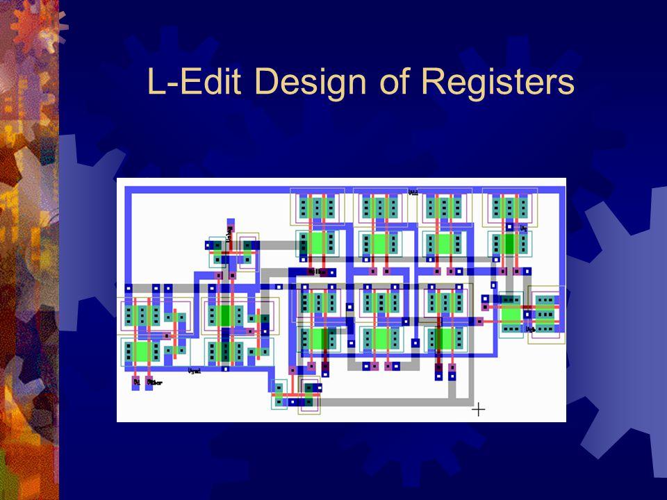 L-Edit Design of Registers