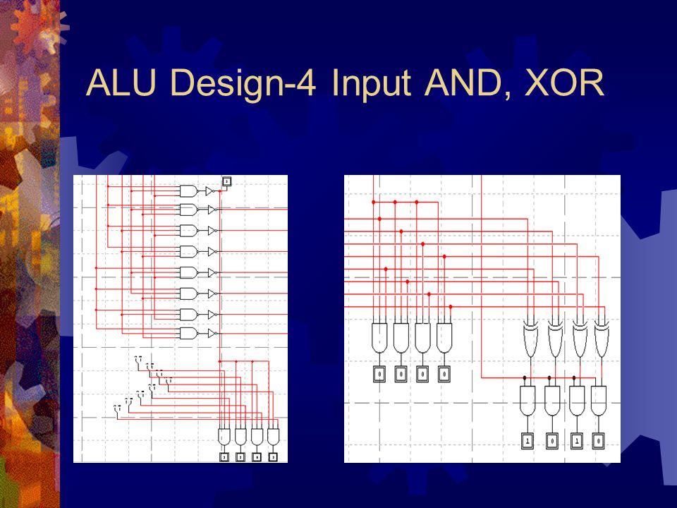 ALU Design-4 Input AND, XOR