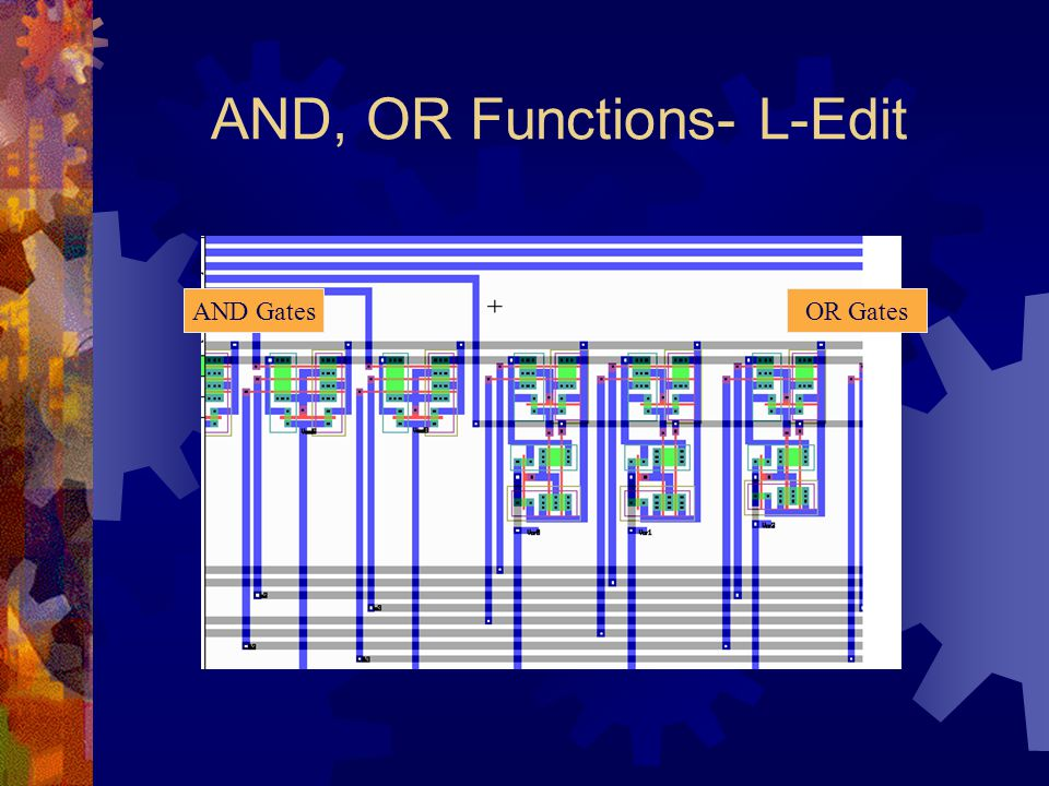 AND, OR Functions- L-Edit AND GatesOR Gates