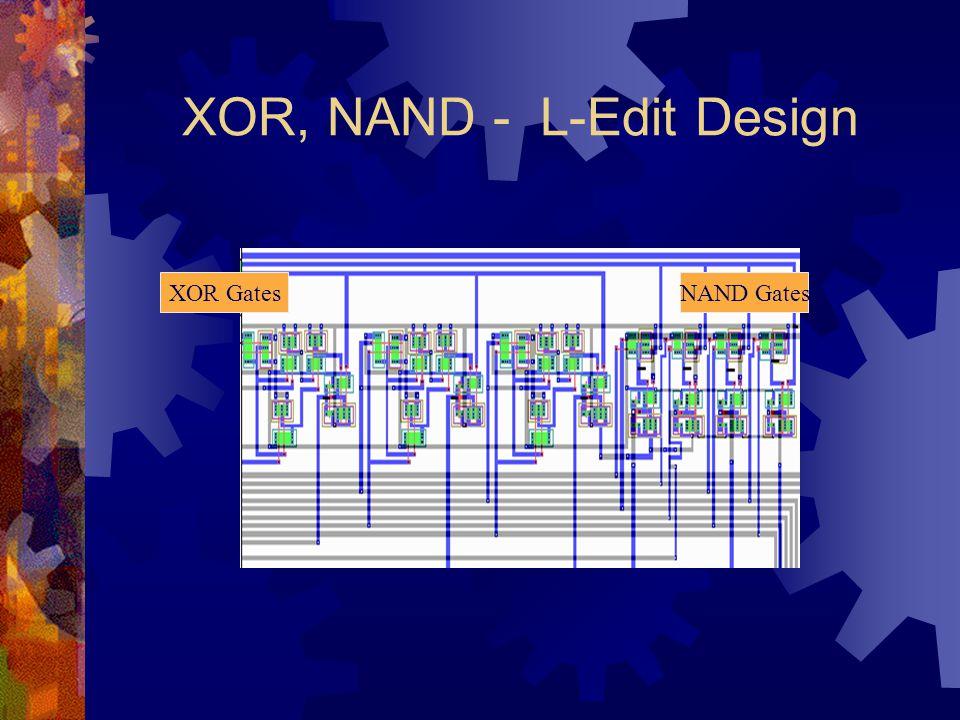 XOR, NAND - L-Edit Design XOR GatesNAND Gates