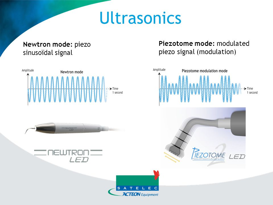 Rapidity: fine, fast, precise and effortless selective cut thanks to ultra-sharp, robust and resistant Piezotome tips.