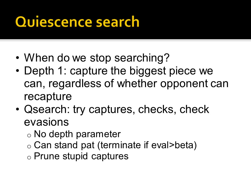 When do we stop searching.