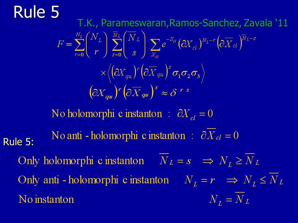 Rule 5 Rule 5 T.K., Parameswaran,Ramos-Sanchez, Zavala '11 T.K., Parameswaran,Ramos-Sanchez, Zavala '11 Rule 5:
