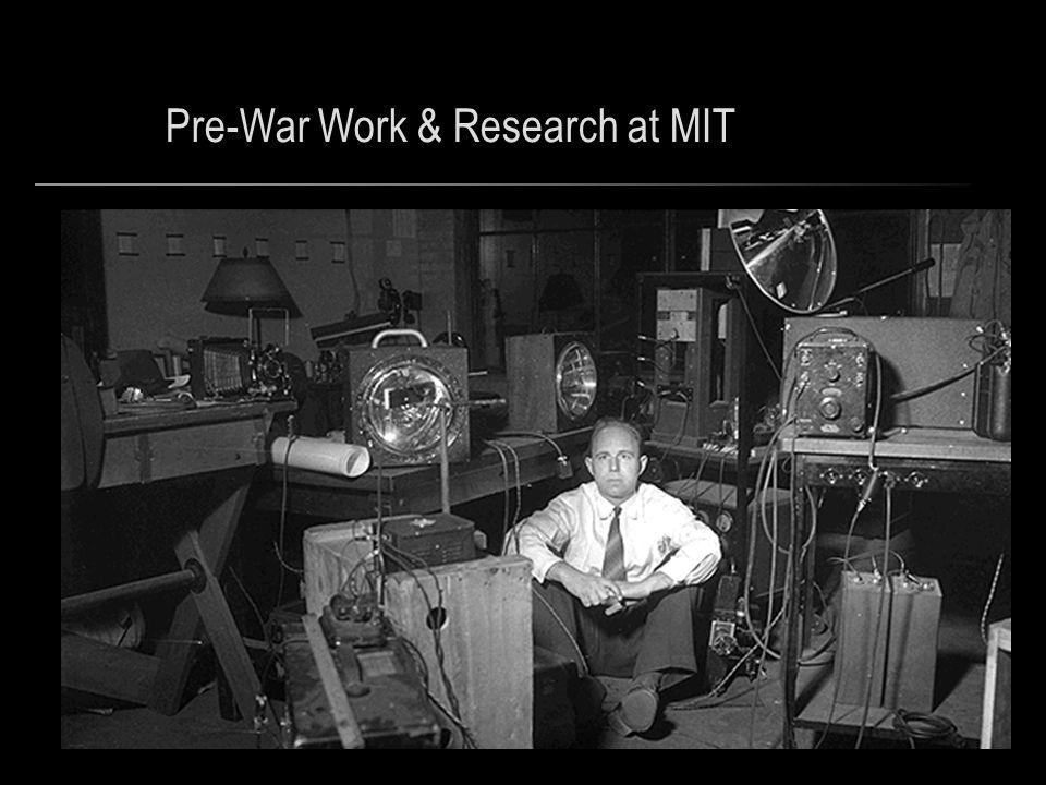 Pre-War Work & Research at MIT