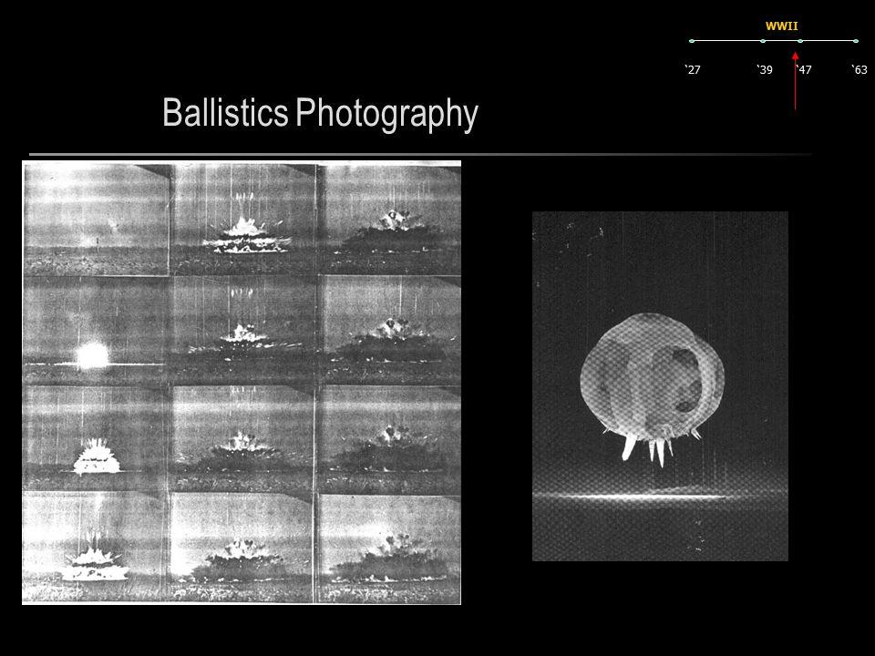Ballistics Photography '27'63'47'39 WWII