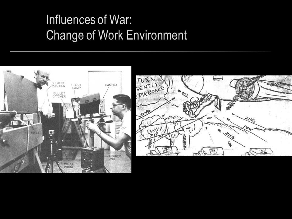 Influences of War: Change of Work Environment
