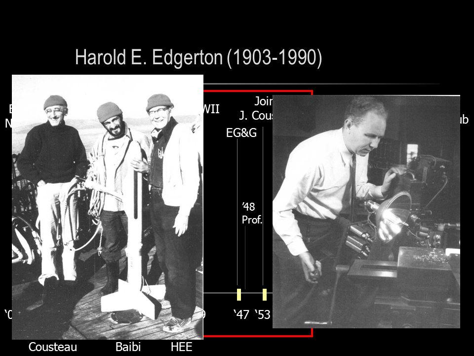Harold E. Edgerton (1903-1990) '03 Born in Nebraska '27'39'47 '25 BS in EE U.