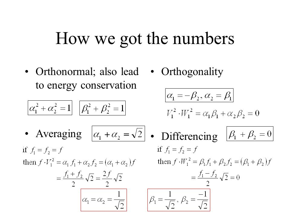 How we got the numbers (cont)