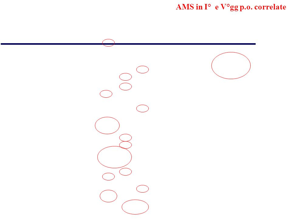 AMS in I° e V°gg p.o. correlate