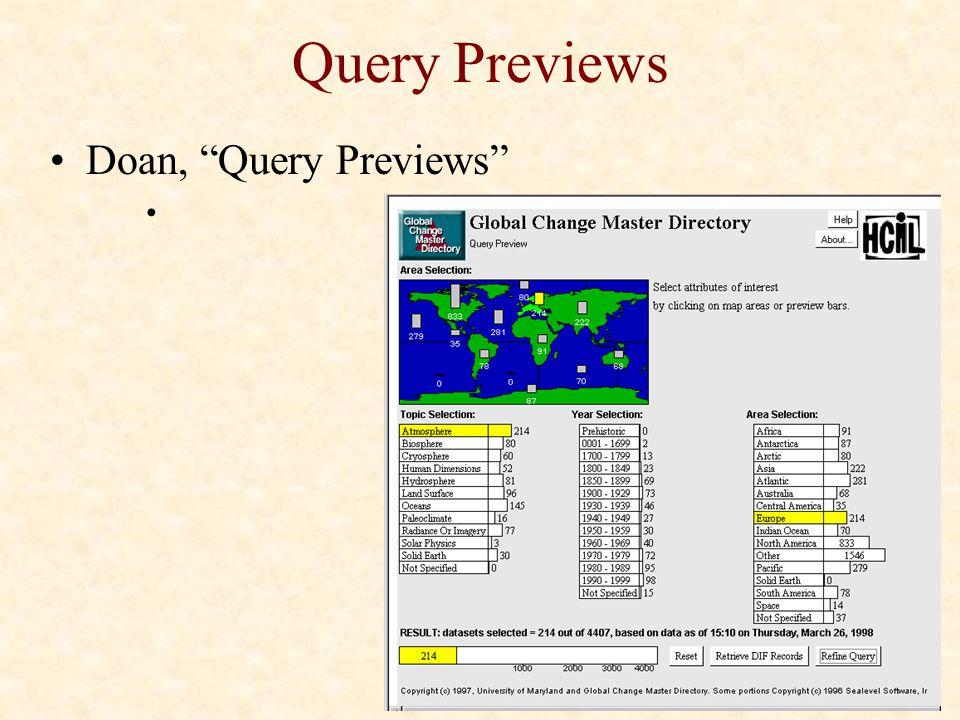 """Query Previews Doan, """"Query Previews"""""""