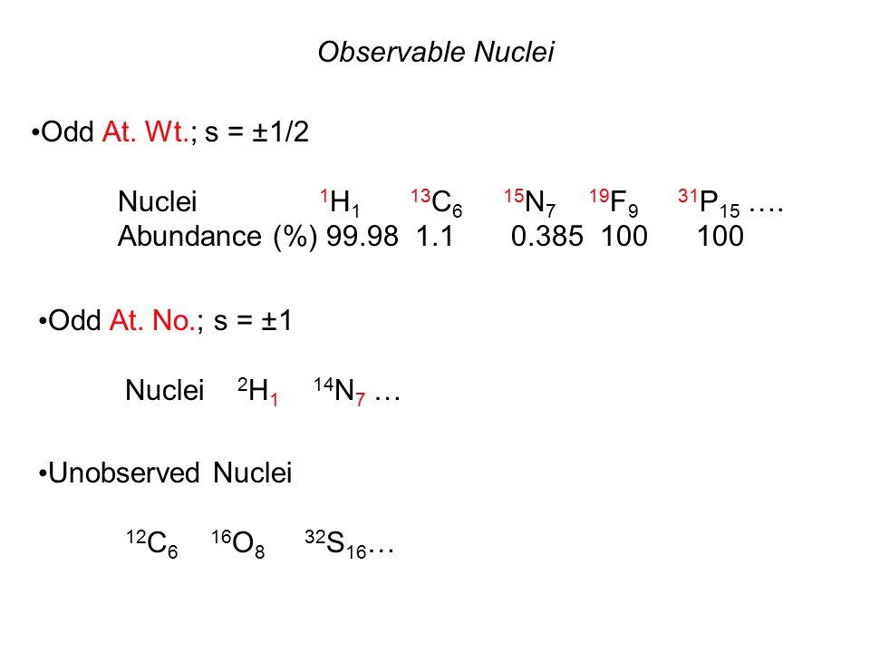 13 C NMR Spectrum of Ethyl Bromide at 62.8 MHz 01020 30 ppm (  ) TMS J CH = 118 Hz J CH = 151 Hz C1C1 J CH = 5 Hz 26.6 J CH = 3 Hz 18.3 J CH = 126 Hz C2C2