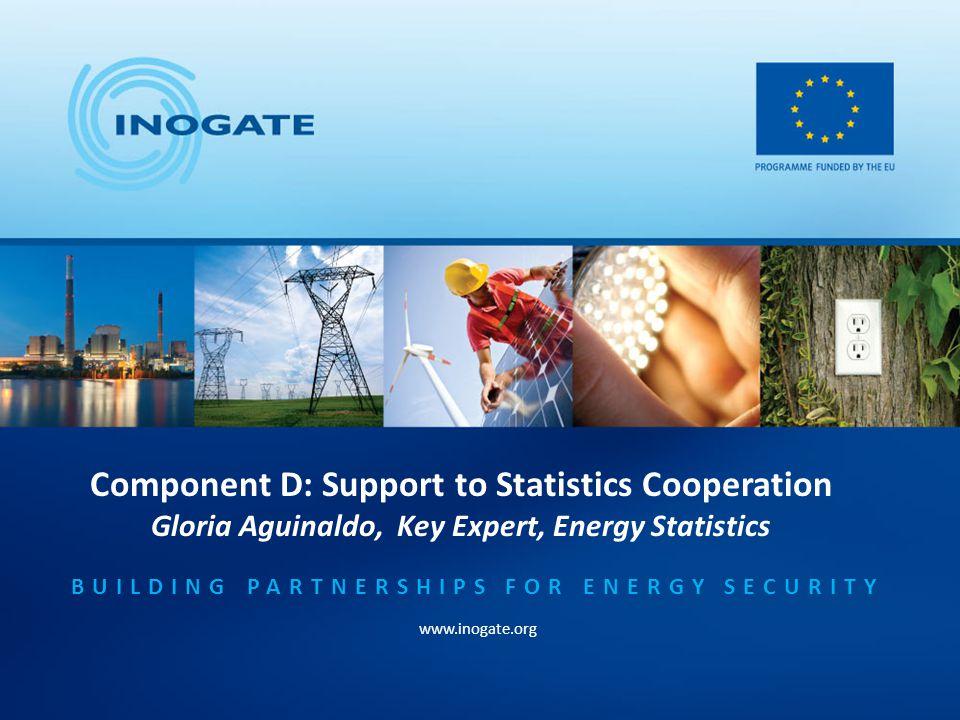 INOGATE Training Day 26 April 2012 Kiev, Ukraine Component D: Support to Statistics Cooperation Gloria Aguinaldo Key Expert, Energy Statistics