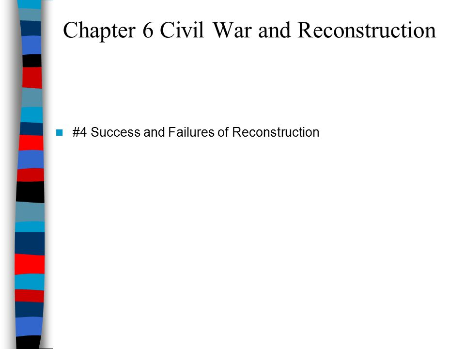 Chapter 6 Civil War and Reconstruction #4 Success and Failures of Reconstruction