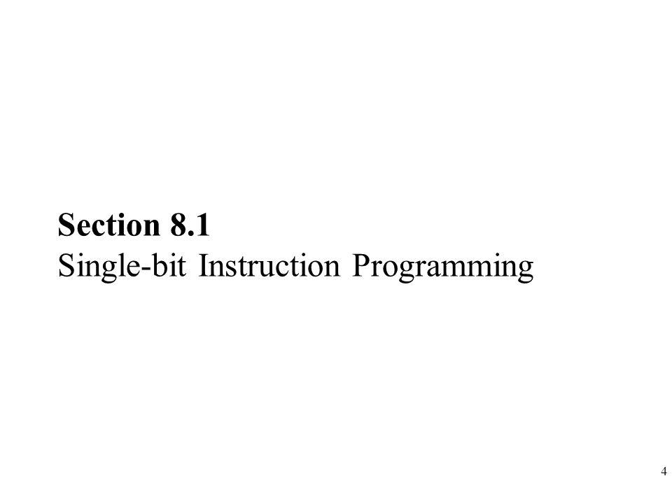 4 Section 8.1 Single-bit Instruction Programming
