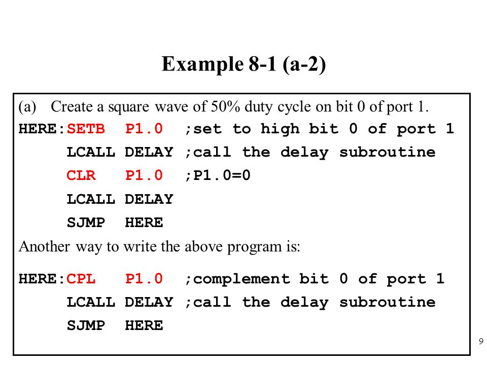 20 Example 8-4 Write a program to see if the accumulator contains an even number.