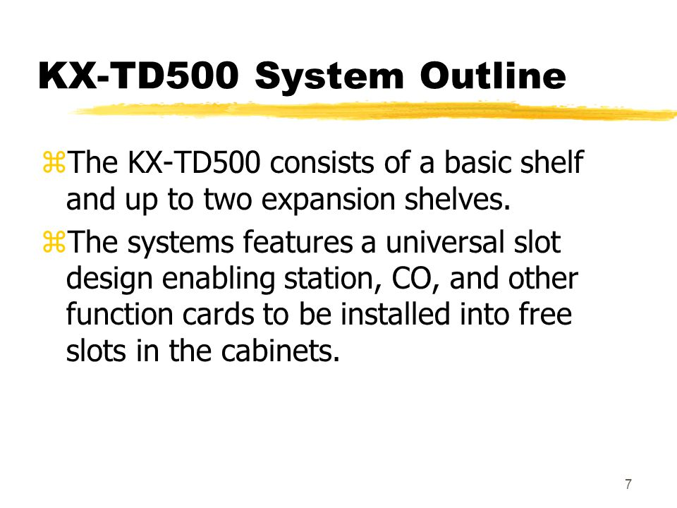 48 KX-T96161 zDoorphone card zProvides 4 Doorphones and 4 dry contact relays z2 card per system