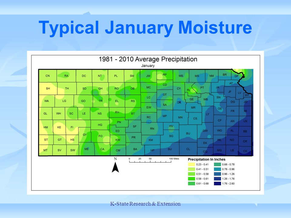 Typical January Moisture K-State Research & Extension