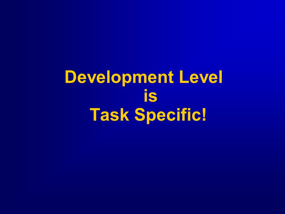 15 Levels of Development  D1 - Low Competence, High Commitment Enthusiastic Beginner  D2 - Some Competence, Low Commitment Disillusioned Learner  D3 - Moderate to High Competence, Variable Commitment Reluctant Contributor  D4 - High Competence, High Commitment Peak Performer