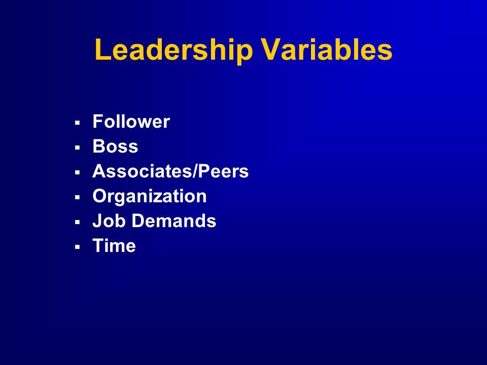 Leadership Variables