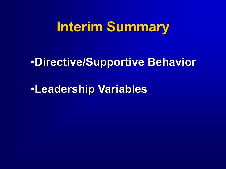  Follower  Boss  Associates/Peers  Organization  Job Demands  Time Leadership Variables