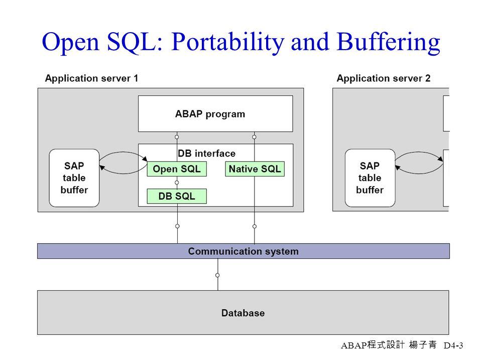 ABAP 程式設計 楊子青 D4-2 Database Updates: Overview