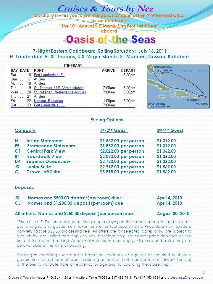 Cruises & Tours by Nez ▲ P.O.