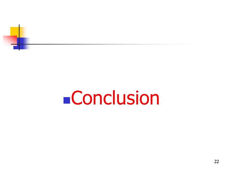 22 Conclusion
