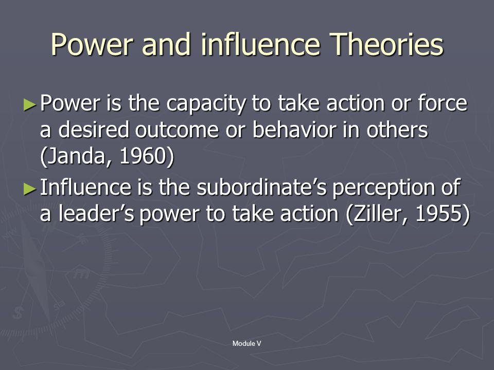 Module V Trait Theory ► Post WW II (Stogdill, 1970)  Skill (e.g. Intellectual)  Relational behaviors (e.g. nurturing)  Personal (e.g. able to commu