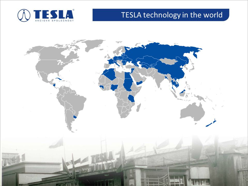 Historie TESLA technology in the world